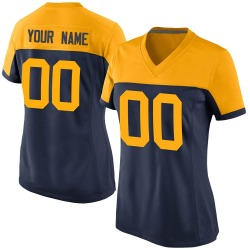 Custom Green Bay Packers Women's Game Custom Alternate Nike Jersey - Navy