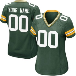 Custom Green Bay Packers Women's Game Custom Team Color Nike Jersey - Green