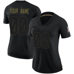 Custom Green Bay Packers Women's Limited Custom 2020 Salute To Service Nike Jersey - Black