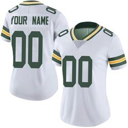 Custom Green Bay Packers Women's Limited Custom Vapor Untouchable Nike Jersey - White