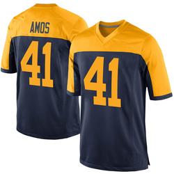 DaShaun Amos Green Bay Packers Men's Game Alternate Nike Jersey - Navy
