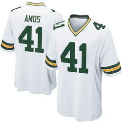 DaShaun Amos Green Bay Packers Men's Game Nike Jersey - White