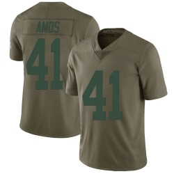 DaShaun Amos Green Bay Packers Men's Limited Salute to Service Nike Jersey - Green