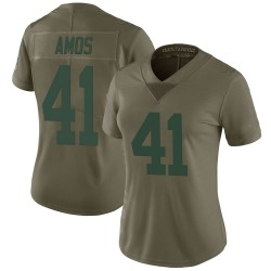 DaShaun Amos Green Bay Packers Women's Limited Salute to Service Nike Jersey - Green