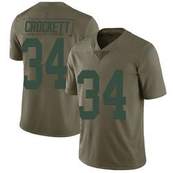 Damarea Crockett Green Bay Packers Men's Limited Salute to Service Nike Jersey - Green
