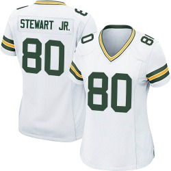 Darrell Stewart Jr. Green Bay Packers Women's Game Nike Jersey - White