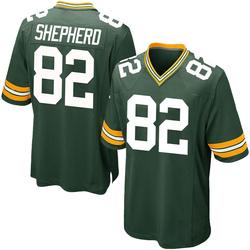 Darrius Shepherd Green Bay Packers Men's Game Team Color Nike Jersey - Green