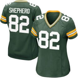 Darrius Shepherd Green Bay Packers Women's Game Team Color Nike Jersey - Green