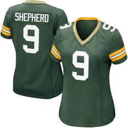 Darrius Shepherd Green Bay Packers Women's Game Team Color Nike Jersey - Green