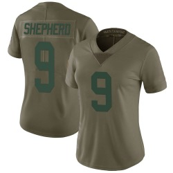 Darrius Shepherd Green Bay Packers Women's Limited Salute to Service Nike Jersey - Green