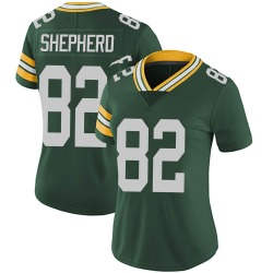 Darrius Shepherd Green Bay Packers Women's Limited Team Color Vapor Untouchable Nike Jersey - Green