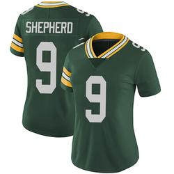 Darrius Shepherd Green Bay Packers Women's Limited Team Color Vapor Untouchable Nike Jersey - Green