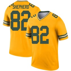 Darrius Shepherd Green Bay Packers Youth Legend Inverted Nike Jersey - Gold