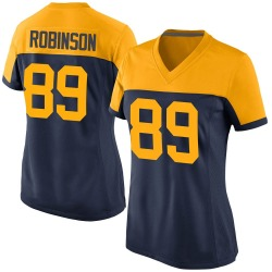 Dave Robinson Green Bay Packers Women's Game Alternate Nike Jersey - Navy