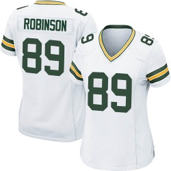 Dave Robinson Green Bay Packers Women's Game Nike Jersey - White