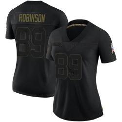Dave Robinson Green Bay Packers Women's Limited 2020 Salute To Service Nike Jersey - Black