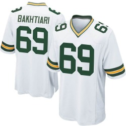 David Bakhtiari Green Bay Packers Men's Game Nike Jersey - White