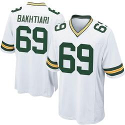 David Bakhtiari Green Bay Packers Men's Game Nike Jersey - White