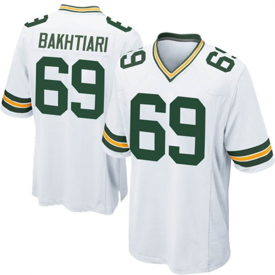 David Bakhtiari Green Bay Packers Men's Game Jersey - White