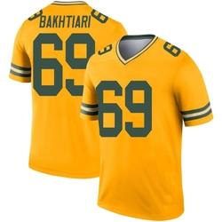 David Bakhtiari Green Bay Packers Men's Legend Inverted Jersey - Gold