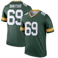 David Bakhtiari Green Bay Packers Men's Legend Jersey - Green