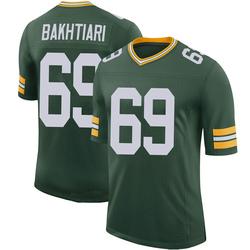 David Bakhtiari Green Bay Packers Men's Limited 100th Vapor Nike Jersey - Green