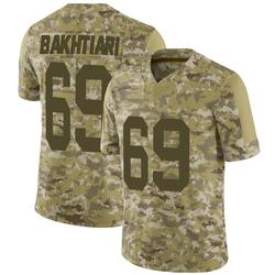 David Bakhtiari Green Bay Packers Men's Limited 2018 Salute to Service Jersey - Camo