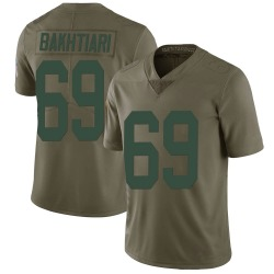 David Bakhtiari Green Bay Packers Men's Limited Salute to Service Nike Jersey - Green