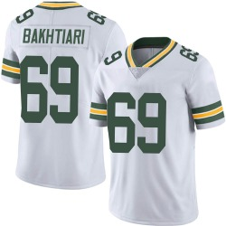 David Bakhtiari Green Bay Packers Men's Limited Vapor Untouchable Nike Jersey - White