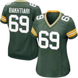 David Bakhtiari Green Bay Packers Women's Game Team Color Nike Jersey - Green