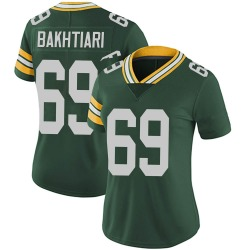 David Bakhtiari Green Bay Packers Women's Limited Team Color Vapor Untouchable Nike Jersey - Green