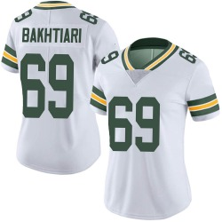 David Bakhtiari Green Bay Packers Women's Limited Vapor Untouchable Nike Jersey - White
