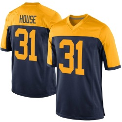 Davon House Green Bay Packers Men's Game Alternate Nike Jersey - Navy