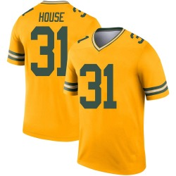 Davon House Green Bay Packers Men's Legend Inverted Jersey - Gold
