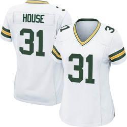 Davon House Green Bay Packers Women's Game Nike Jersey - White