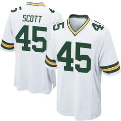 Delontae Scott Green Bay Packers Men's Game Nike Jersey - White