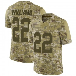 Dexter Williams Green Bay Packers Youth Limited 2018 Salute to Service Nike Jersey - Camo