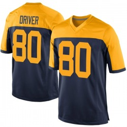 Donald Driver Green Bay Packers Men's Game Alternate Nike Jersey - Navy