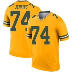 Elgton Jenkins Green Bay Packers Men's Legend Inverted Nike Jersey - Gold