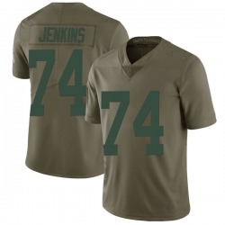 Elgton Jenkins Green Bay Packers Men's Limited Salute to Service Nike Jersey - Green