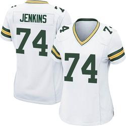 Elgton Jenkins Green Bay Packers Women's Game Nike Jersey - White