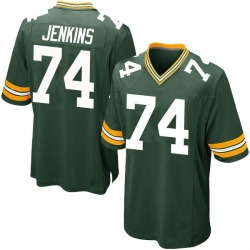 Elgton Jenkins Green Bay Packers Youth Game Team Color Nike Jersey - Green