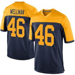 Elijah Wellman Green Bay Packers Men's Game Alternate Nike Jersey - Navy
