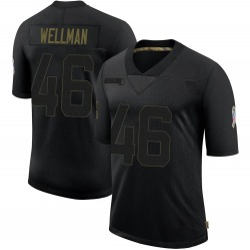 Elijah Wellman Green Bay Packers Men's Limited 2020 Salute To Service Nike Jersey - Black