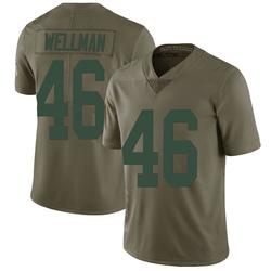 Elijah Wellman Green Bay Packers Men's Limited Salute to Service Nike Jersey - Green