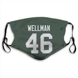 Elijah Wellman Green Bay Packers Reusable & Washable Face Mask