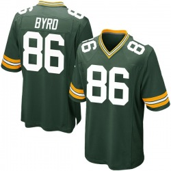 Emanuel Byrd Green Bay Packers Men's Game Team Color Nike Jersey - Green