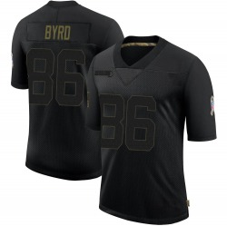 Emanuel Byrd Green Bay Packers Men's Limited 2020 Salute To Service Nike Jersey - Black