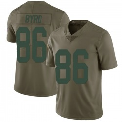 Emanuel Byrd Green Bay Packers Men's Limited Salute to Service Nike Jersey - Green