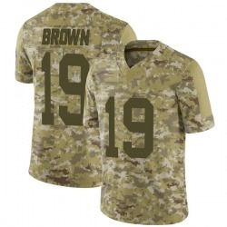 Equanimeous St. Brown Green Bay Packers Men's Limited Camo 2018 Salute to Service Nike Jersey - Brown